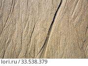 Patterns on the sand from sea water after low tide, Spain. Стоковое фото, фотограф Яков Филимонов / Фотобанк Лори