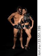 Купить «Young people in bdsm lingerie view», фото № 33551199, снято 30 января 2020 г. (c) Гурьянов Андрей / Фотобанк Лори