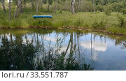 Купить «Lake, forest, reflection, water, trees», видеоролик № 33551787, снято 13 апреля 2020 г. (c) Mikhail Erguine / Фотобанк Лори