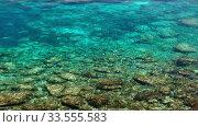 Blue lagoon at Cape Greko coast. Cyprus. Стоковое видео, видеограф Serg Zastavkin / Фотобанк Лори