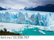 Купить «Glacier Perito Moreno, southeast of Argentina», фото № 33558707, снято 2 февраля 2017 г. (c) Яков Филимонов / Фотобанк Лори