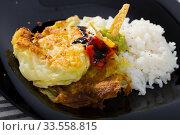 Battered cabbage with rice. Стоковое фото, фотограф Яков Филимонов / Фотобанк Лори