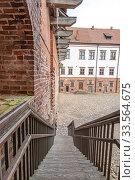 Купить «Mir Castle Complex. Republic of Belarus», фото № 33564675, снято 9 марта 2020 г. (c) Parmenov Pavel / Фотобанк Лори