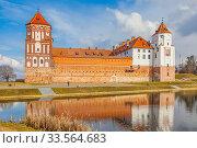 Купить «Mir Castle Complex. Republic of Belarus», фото № 33564683, снято 9 марта 2020 г. (c) Parmenov Pavel / Фотобанк Лори