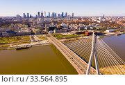 Купить «Warsaw cityscape with Swietokrzyski bridge», фото № 33564895, снято 15 марта 2020 г. (c) Яков Филимонов / Фотобанк Лори