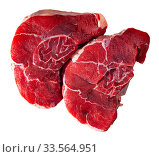 Fresh raw beef steak. Стоковое фото, фотограф Яков Филимонов / Фотобанк Лори