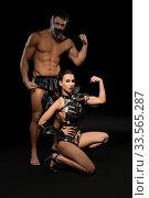Купить «Young people in bdsm underwear shot», фото № 33565287, снято 30 января 2020 г. (c) Гурьянов Андрей / Фотобанк Лори