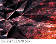 Abstract dark polygonal background with red texture. Стоковое фото, фотограф EugeneSergeev / Фотобанк Лори