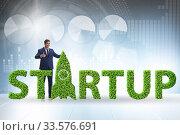 Купить «Concept of green start-up and venture capital», фото № 33576691, снято 4 августа 2020 г. (c) Elnur / Фотобанк Лори