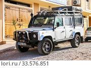 Купить «Land Rover Defender», фото № 33576851, снято 23 сентября 2019 г. (c) Art Konovalov / Фотобанк Лори