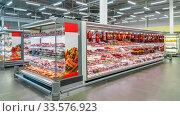 Moscow, Russia - AUGUST 26: Shopping center Lenta on (2016 год). Редакционное фото, фотограф Андрей Зык / Фотобанк Лори