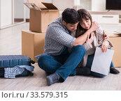 Купить «Young couple receiving foreclosure notice letter», фото № 33579315, снято 23 марта 2018 г. (c) Elnur / Фотобанк Лори