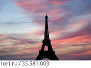 Eiffel Tower in Paris, France (2010 год). Стоковое фото, фотограф Владимир Журавлев / Фотобанк Лори