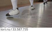 Купить «Fencer athletes during a fencing training in a gym», видеоролик № 33587735, снято 16 ноября 2019 г. (c) Wavebreak Media / Фотобанк Лори