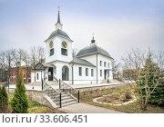 Купить «Церковь Успения Богородицы Church of the Assumption of the Virgin», фото № 33606451, снято 29 марта 2020 г. (c) Baturina Yuliya / Фотобанк Лори