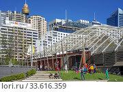 Financial area Barangaroo, on the western foreshore of the CBD Darling Harbour. Sydney, New South Wales, AUSTRALIA. Стоковое фото, фотограф Sergi Reboredo / age Fotostock / Фотобанк Лори