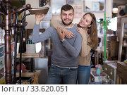 Couple in antique furnishings store. Стоковое фото, фотограф Яков Филимонов / Фотобанк Лори