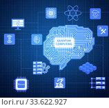 Купить «Quantum computing as modern technology concept», фото № 33622927, снято 5 июня 2020 г. (c) Elnur / Фотобанк Лори