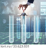Artificial intelligence concept with businessman out of tube. Стоковое фото, фотограф Elnur / Фотобанк Лори