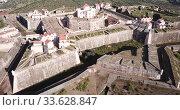 Купить «Panoramic landscape of fortress of Nossa Senhora da Graca in Elvas, Portugal», видеоролик № 33628847, снято 22 апреля 2019 г. (c) Яков Филимонов / Фотобанк Лори