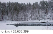 Video of Blue Lakes on Katun river in Altai mountains in winter season. Стоковое видео, видеограф Serg Zastavkin / Фотобанк Лори