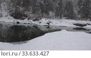 Купить «Video of Blue Lakes on Katun river in Altai mountains in winter season. Altai, Siberia, Russia», видеоролик № 33633427, снято 8 марта 2020 г. (c) Serg Zastavkin / Фотобанк Лори