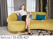 Купить «Portrait of the fashionable beautiful businesswoman», фото № 33638423, снято 24 марта 2020 г. (c) Дмитрий Черевко / Фотобанк Лори