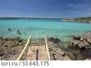Купить «Beautiful Caribbean sea at exquisite Caleta Buena, Playa Giron, Cuba.», фото № 33643175, снято 14 марта 2020 г. (c) age Fotostock / Фотобанк Лори