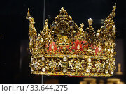 Купить «Danish Crown Jewels, Rosenborg Castle, Copenhagen, Denmark.», фото № 33644275, снято 25 августа 2019 г. (c) age Fotostock / Фотобанк Лори