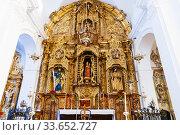 Купить «The church of Santa María de la Mesa, also Santa María de la Meza. At the head of the church, the main altar is erected, a remarkable artistic creation...», фото № 33652727, снято 11 февраля 2020 г. (c) age Fotostock / Фотобанк Лори