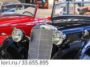 Mercedes Benz 170 V Cabriolet  в музее техники Вадима Задорожного (2011 год). Редакционное фото, фотограф Алёшина Оксана / Фотобанк Лори