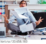 The bankrupt businessman angry in the office floor. Стоковое фото, фотограф Zoonar.com/Elnur Amikishiyev / easy Fotostock / Фотобанк Лори