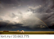 Купить «Prairie Storm Clouds Canada Saskatchewan Summer Warnings», фото № 33663775, снято 27 мая 2020 г. (c) age Fotostock / Фотобанк Лори