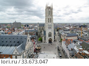 Saint Bavo Cathedral is a gothic cathedral in Ghent, Belgium (2017 год). Редакционное фото, фотограф Алеся Дмитриенко / Фотобанк Лори