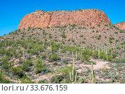 Epic desert landscape scenery from the walking trail of Apache. Стоковое фото, фотограф Zoonar.com/Cheri Alguire ImagesByCheri.com / easy Fotostock / Фотобанк Лори