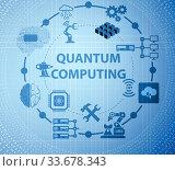 Купить «Quantum computing as modern technology concept», фото № 33678343, снято 5 июня 2020 г. (c) Elnur / Фотобанк Лори