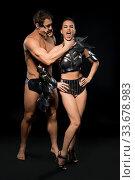Купить «Young couple in bdsm lingerie view», фото № 33678983, снято 30 января 2020 г. (c) Гурьянов Андрей / Фотобанк Лори