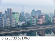 Купить «Pyongyang, capital of the North Korea. DPRK», фото № 33681063, снято 30 апреля 2019 г. (c) Знаменский Олег / Фотобанк Лори