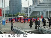 Купить «Pyongyang, North Korea. Girls», фото № 33681127, снято 30 апреля 2019 г. (c) Знаменский Олег / Фотобанк Лори