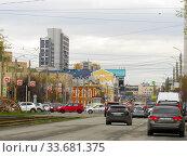 Купить «Челябинск, улица Труда», эксклюзивное фото № 33681375, снято 30 апреля 2020 г. (c) Елена Осетрова / Фотобанк Лори