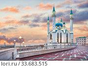 Вечерний Кул-Шариф (2017 год). Стоковое фото, фотограф Baturina Yuliya / Фотобанк Лори