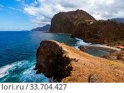 Coast in town Faial - Madeira Portugal - travel background. Стоковое фото, фотограф Zoonar.com/Nikolai Sorokin / easy Fotostock / Фотобанк Лори