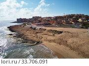 Купить «Empty beach of Torre La Mata. Costa Blanca, Spain», фото № 33706091, снято 15 марта 2020 г. (c) Alexander Tihonovs / Фотобанк Лори