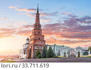 Башня Сююмбике в Казанском Кремле (2015 год). Стоковое фото, фотограф Baturina Yuliya / Фотобанк Лори