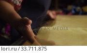 Купить «Mixed race woman working at a hat factory», видеоролик № 33711875, снято 16 мая 2019 г. (c) Wavebreak Media / Фотобанк Лори