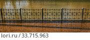Купить «Flooded city canal embankment», фото № 33715963, снято 4 мая 2020 г. (c) Евгений Харитонов / Фотобанк Лори