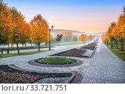 Осенняя Аллея в Царицыно (2018 год). Стоковое фото, фотограф Baturina Yuliya / Фотобанк Лори