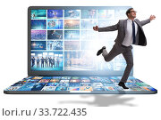Many different images in video streaming concept. Стоковое фото, фотограф Elnur / Фотобанк Лори