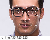 Купить «Concept of face recognition software and hardware», фото № 33723223, снято 5 июня 2020 г. (c) Elnur / Фотобанк Лори