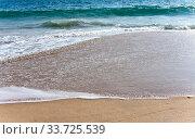 Купить «The wave on sand», фото № 33725539, снято 7 февраля 2014 г. (c) Вознесенская Ольга / Фотобанк Лори